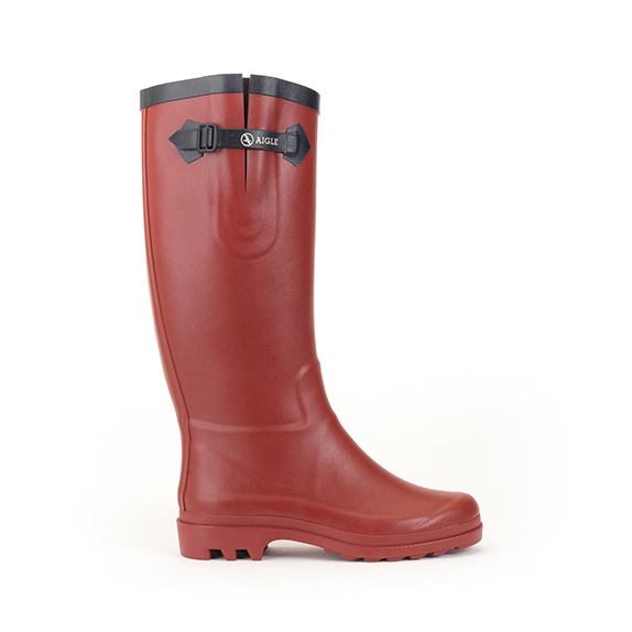 Aigle-Womens-Rubber-Boots-Aiglentine-Red