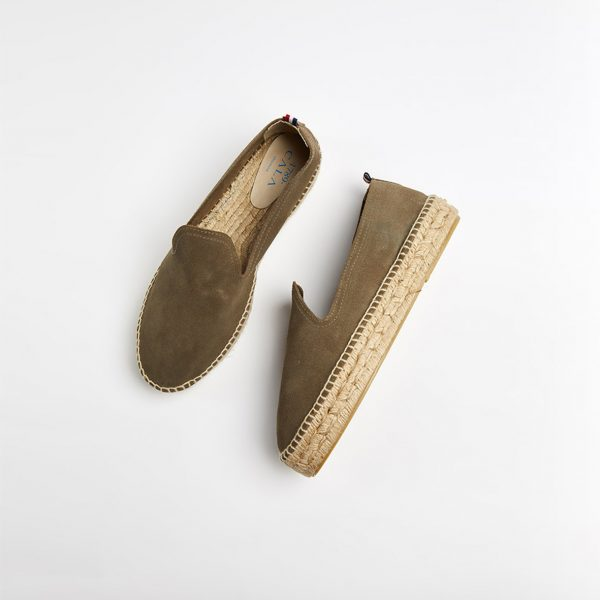 1789-Cala-Espadrilles-Slip-On-Double-Cuir-Kaki